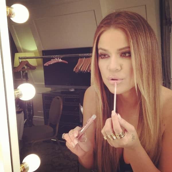 Khloe Kardashian as a Blonde