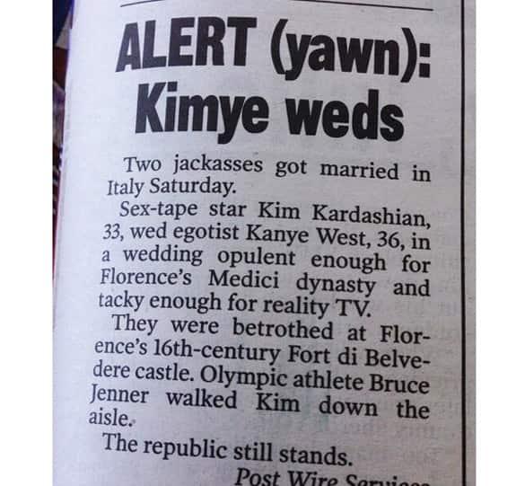 Kimye Wedding Article
