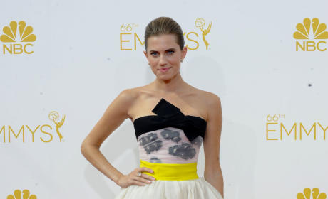 Allison Williams at the 2014 Emmys