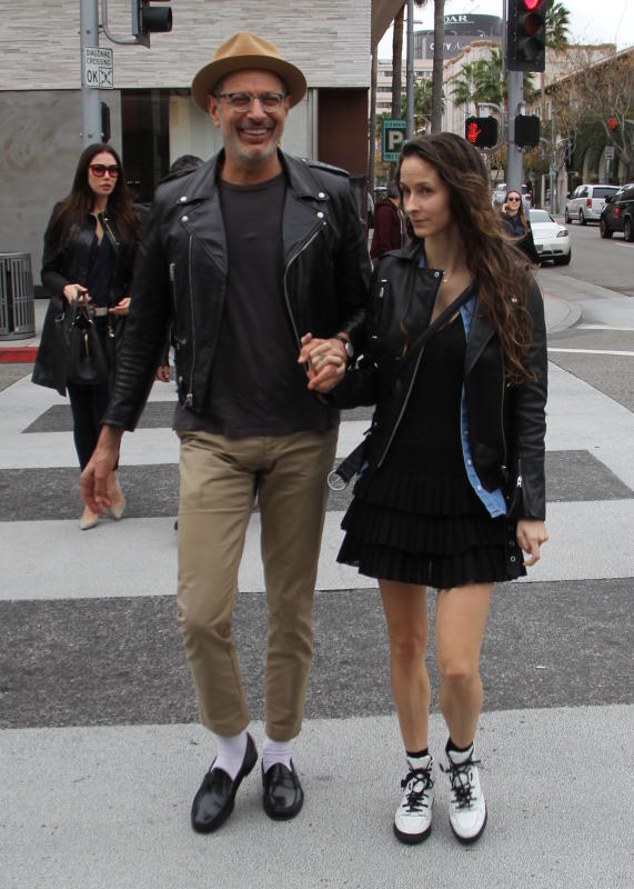 Jeff & Emily Goldblum In Beverly Hills