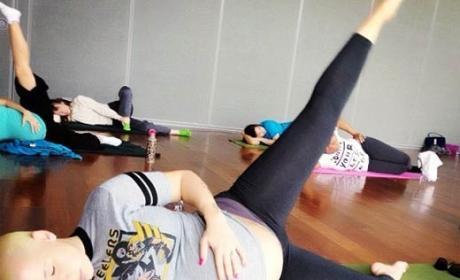 Amber Rose Yoga Pose