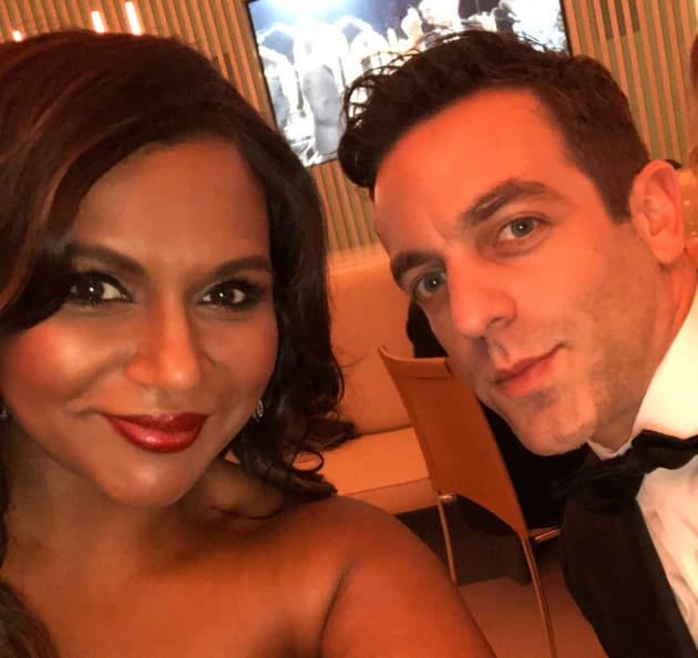 Mindy Kaling, BJ Novak Oscars Pic