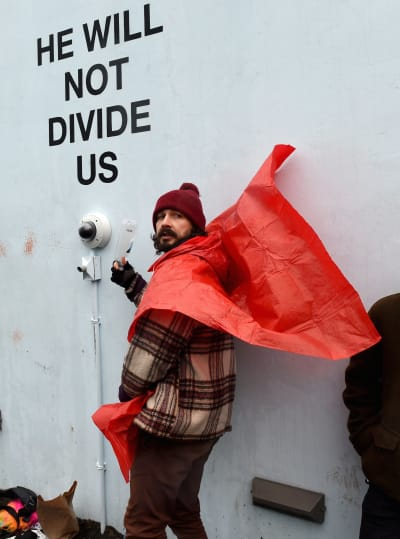 Shia LaBeouf: Down with The Donald!
