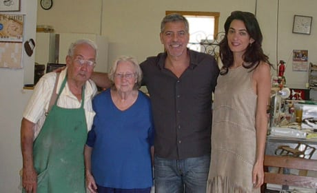 George Clooney and Amal in Kentucky