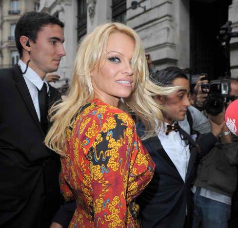 Pamela Anderson in Paris