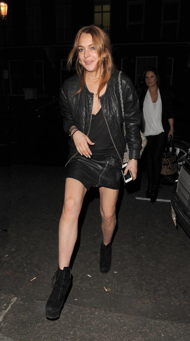 Lindsay Lohan Hits the Streets of London