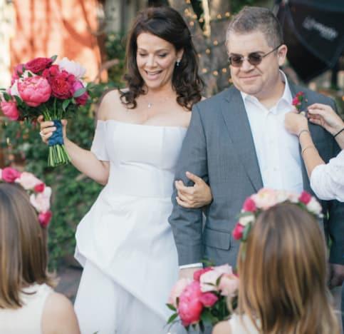 Patton Oswalt and Meredith Salenger Wedding Photo