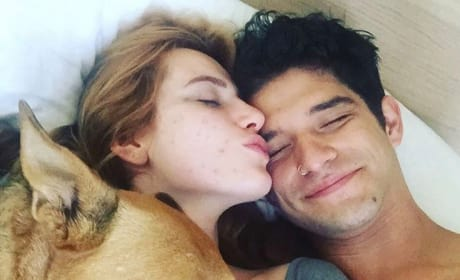 Bella Thorne and Tyler Posey in Bed for Birthday