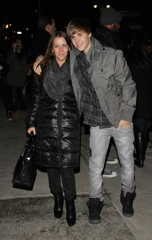 Justin Bieber and Mom
