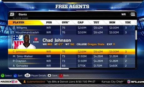Chad Johnson Madden