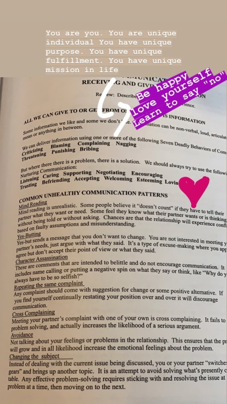 Larissa lima ig stories healthy communication self love