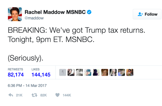 maddow tweet
