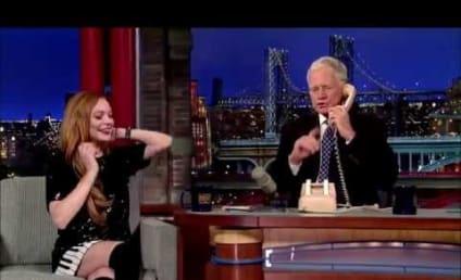 Lindsay Lohan, David Letterman Prank Call Oprah on Late Show: Watch!