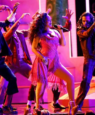 Rihanna Performing at Grammys