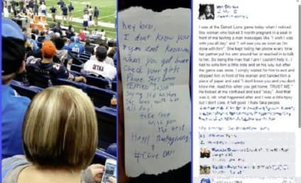 Guy Eavesdrops on Woman Texting Some Other Guy at Lions Game, Tells Boyfriend Via Toilet Paper