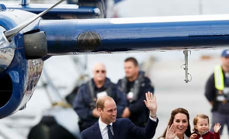 Will Kate George Charlotte Wave Goodbye Victoria