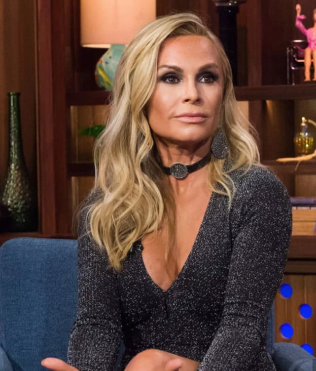 Tamra judge on the couch