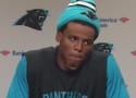 Cam Newton Laughs at Female Reporter, Is a Moron