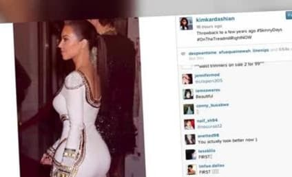 Kim Kardashian Throws It Back to #SkinnyDays, Sucks So Very Much
