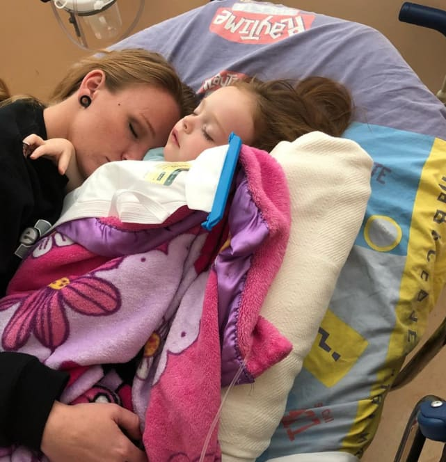 Maci in the hospital