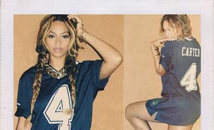 "Beyonce Rocks ""Carter"" Jersey, Eschews Pants, Seeks to End Divorce Rumors"