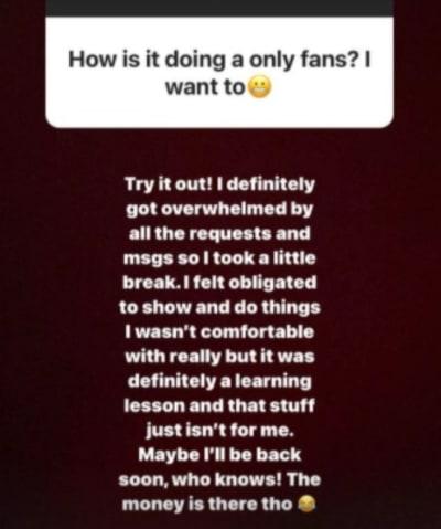 Briana DeJesus IG - took a little break from OnlyFans