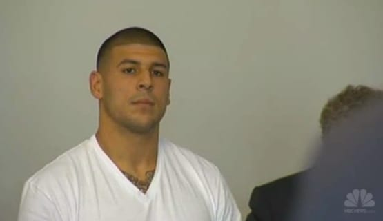 Aaron Hernandez in Court