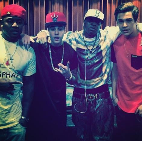 Austin Mahone and Justin Bieber