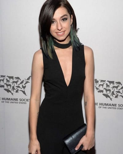 Christina Grimmie in Black
