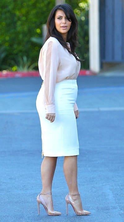 Kim Baby Bump Pic