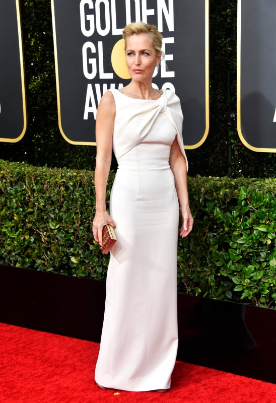 Gillian anderson at the globes