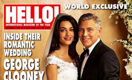 Amal Alamuddin and George Clooney Wedding Photo