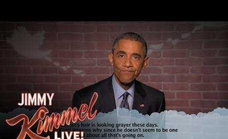 Barack Obama Reads Mean Tweets on Jimmy Kimmel Live