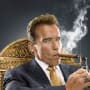 Arnold Schwarzenegger with a Cigar