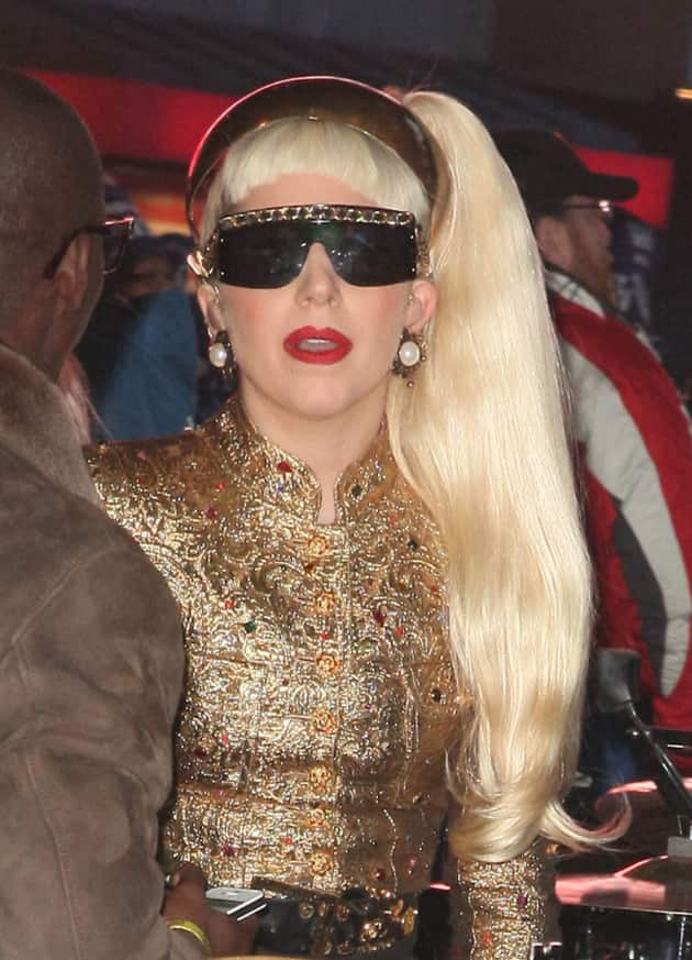 Lady Gaga in Times Square