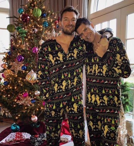 Fredrik Eklund and Derek Kaplan, Pre-Baby Christmas Photo