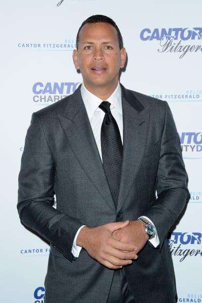 Alex Rodriguez in a Grey Suit