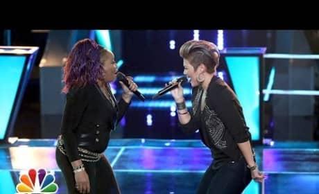 """Donna Allen vs. Tessanne Chin: """"Next to Me"""" - The Voice Battle Round"""