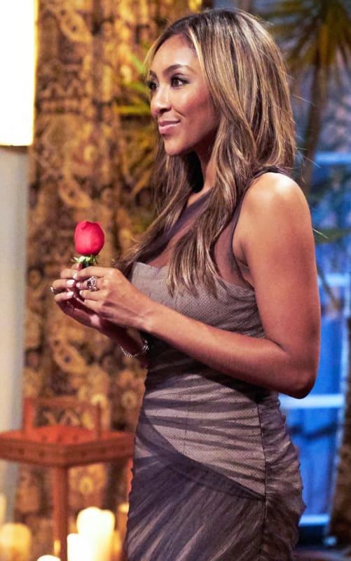 Tayshia adams has a rose