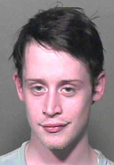 Macaulay Culkin Mug Shot