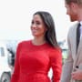 Meghan Markle: Pregnant in Red