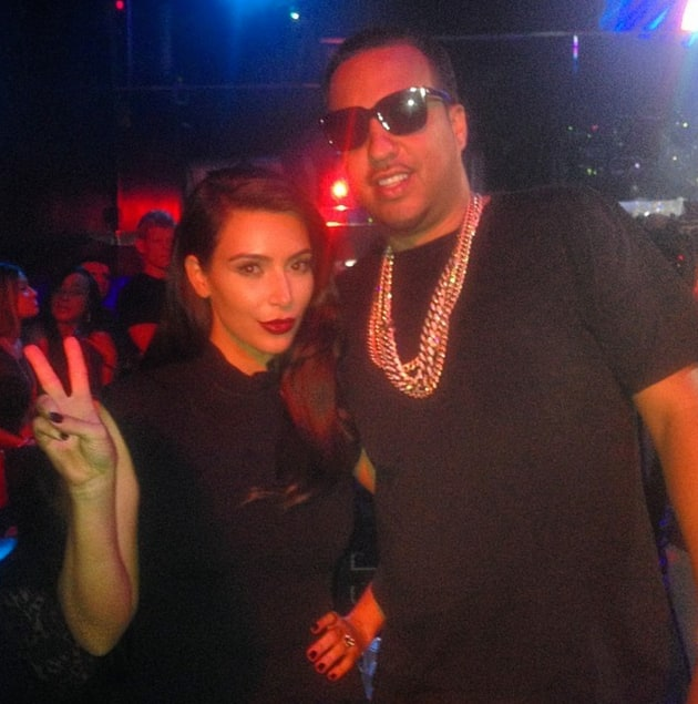 French Montana and Kim Kardashian