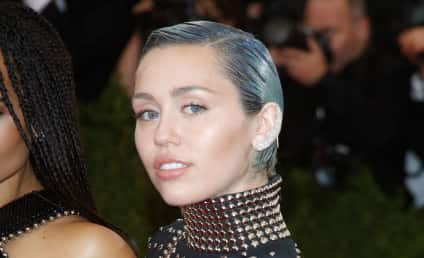 Miley Cyrus: Nearly Naked, Grabbing Own Boobs for German Vogue