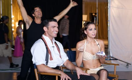 Backstage at DWTS with Melissa, Tony, Gilles and Cheryl