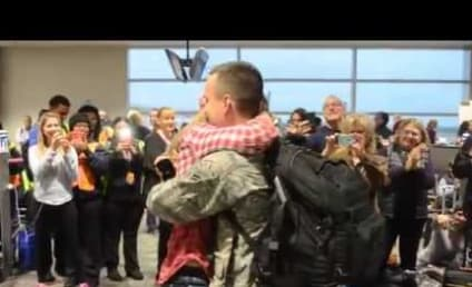 Air Force Airman Returns From Duty, Shocks Girlfriend With Airport Proposal: Watch!