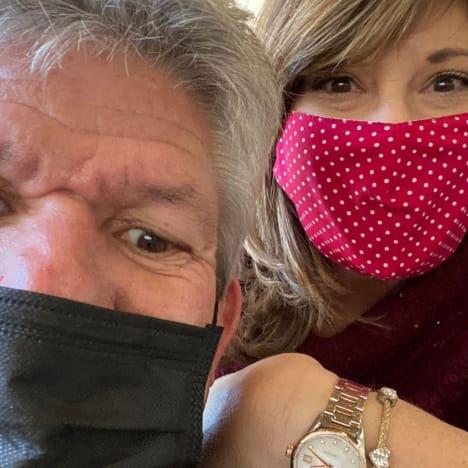 Matt and Caryn in Masks
