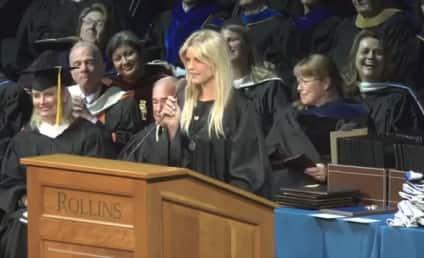Elin Nordegren Graduates, Gives Commencement Speech, Sort of Zings Tiger Woods!