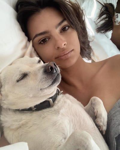 Emily Ratajkowski, Dog Selfie