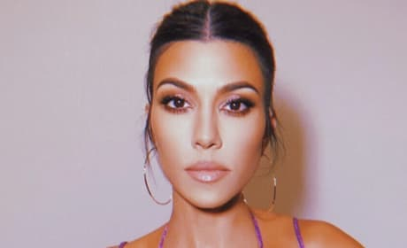 Kourtney Kardashian in Purple