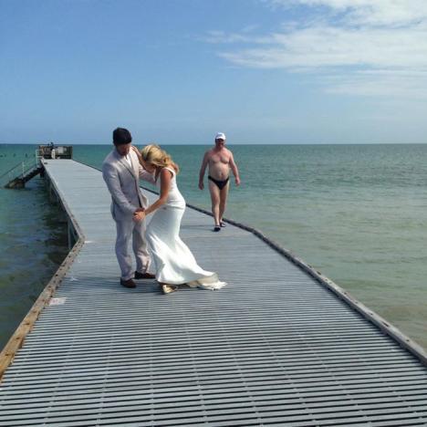 Wedding Portrait Photobomb
